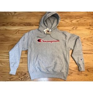 Men's champion reverse weave Hoodie Grey Sz Medium